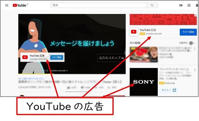 身近なYouTube広告の例
